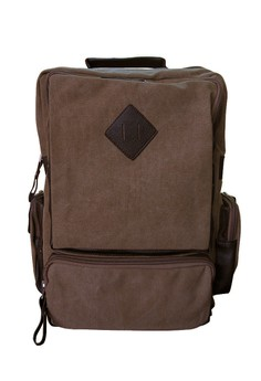 Canvas Laptop Bag with Diamond Patch