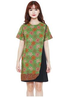 Batik Flike Store Dress Wanita Mix Layer Dress Dior Green Scoot  6C4D1AAEFC115AGS 1 9aa4ee325b