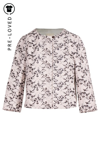 Support Surface multi Pre-Loved support surface Lace Embroidered Creamy Jacket 7DA78AA45BDE27GS_1