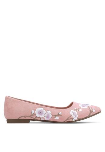 Nose pink Cherry Blossom Printed Pumps NO327SH0RC92MY_1