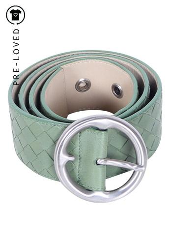 BOTTEGA VENETA green bottega veneta Intrecciato Nappa Belt in Green 1800CACB2A90E0GS_1