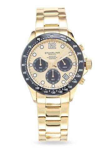 Stuhrling Original gold Aquadiver 3961 Watch 21190AC1537C34GS_1