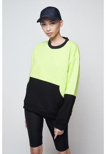 Raegitazoro black and green Verde Sweatshirt D7DFCAA50F33E3GS_1