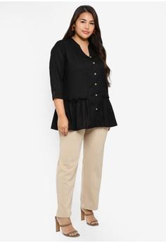 a26acd2de Ex otico Plus Size 3 4 Sleeve Long Blouse RM 139.00. Sizes XXL XXXL XXXXL  XXXXXL