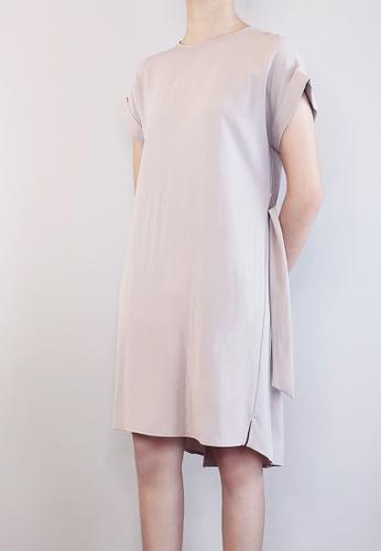SUB grey Women Pleated Detail Dress 3B10EAA36E6AD9GS_1