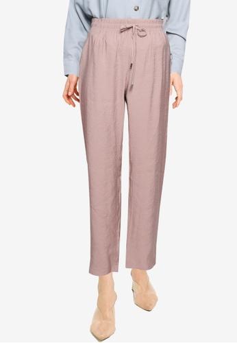 LC WAIKIKI beige Elastic Waist Trousers C04F5AAC1CB62FGS_1
