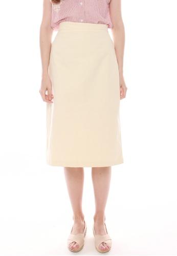 JOVET beige Midi Skirt 28543AA96FFF4AGS_1