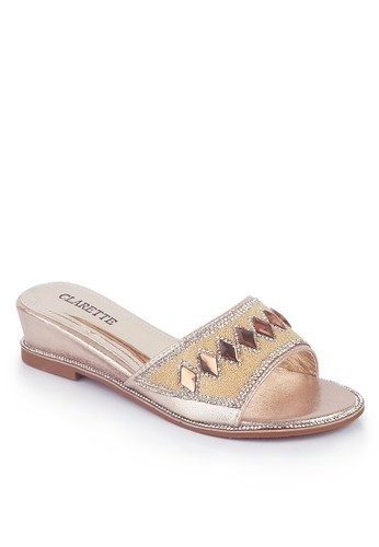 Clarette gold Clarette Sandal Party Doria Gold CL076SH72INJID_1
