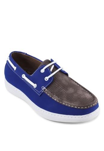 撞色壓花拼接esprit台北門市船型鞋, 鞋, 鞋