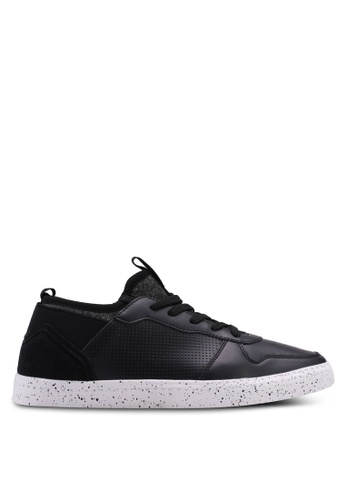 North Star black Perforated Sneakers D3593SHB0B5B81GS_1