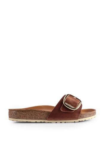 Birkenstock brown Madrid Big Buckle Sandals D180DSH8AEDFFAGS_1