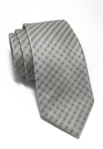 Splice Cufflinks Atom Series Silver Polyester Tie SP744AC42LOFSG_1
