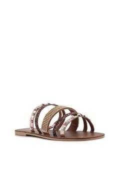 b43885056 11% OFF River Island Leather Multi Strap Embellished Sandals Php 4