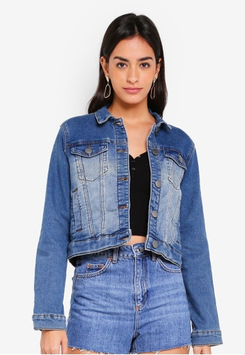 Cotton On blue Girlfriend Denim Jacket 72951AAA2DB70CGS_1