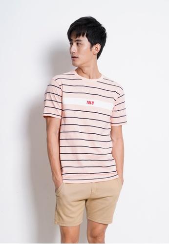 Hi Style pink Graphic Short Sleeve T-Shirt 77704AAFC4337FGS_1