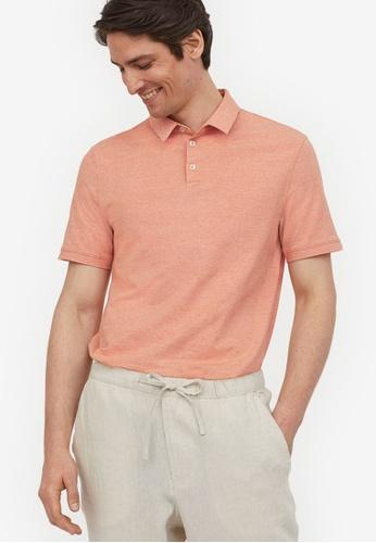 H&M orange Polo Shirt Slim Fit 2374BAADB1329FGS_1