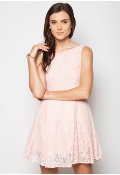 Boat Neck Lace Dress