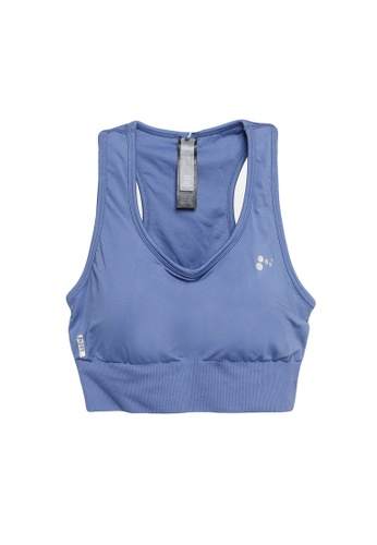 ONLY PLAY blue and navy Plus Size Daisy Sports Bra EDF33US3A6549FGS_1