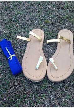 Caca DIY Flats - Blue Ribbon