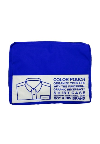 ROY & BIV blue Shirt Case Travel Pouch (Blue) RO781AC32TADPH_1