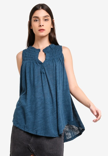 Free People blue New To Town Tank Top 0506EAA35352BEGS_1