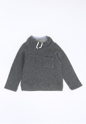 HÄP & CRAFT grey High Neck Pullover 4801BKABD79D5AGS_1