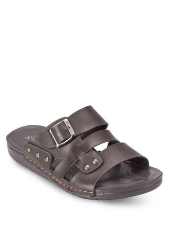 扣環三esprit 品牌帶涼鞋, 鞋, 鞋
