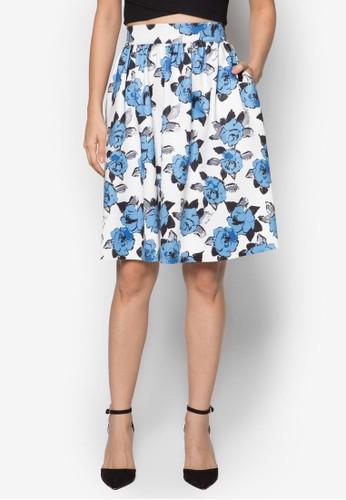簡約傘擺印花及膝裙, 服zalora taiwan 時尚購物網鞋子飾, 服飾