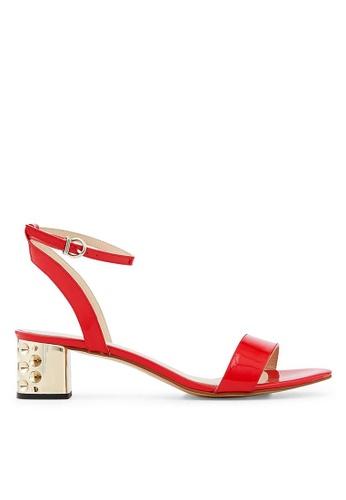 Minelli red F63 037/VER Patent Cow Leather Sandals - Doriane MI352SH63YLOSG_1