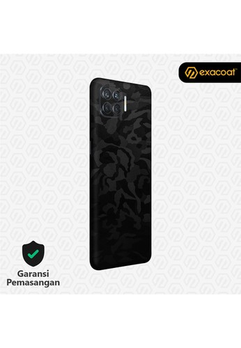 Exacoat Oppo Reno 4F 3M Skins Camo Series - Black Camo C28FDES934AC85GS_1