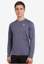 Odlo blue Aion Long Sleeve T-Shirt OD608AA0S13FMY_1