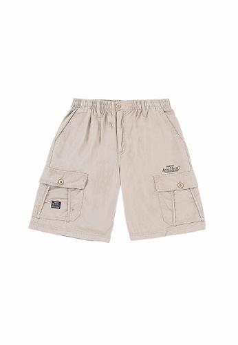 FOREST beige Forest 100% Cotton Twill Cargo Shorts - 65621 - 14KhakiGreen 5B13DAA9014FB7GS_1