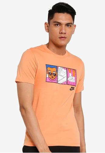 Nike orange Men's Sportswear Short Sleeve T-Shirt DBC83AA21F3551GS_1