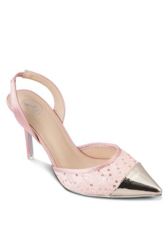 亮面尖頭蕾絲高esprit台灣網頁跟鞋, 女鞋, 鞋