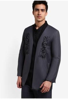 【ZALORA】 刺繡西裝外套
