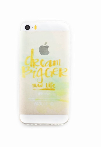 Fancy Cellphone Cases multi Dream Bigger Soft Transparent Case for iPhone 5/5s/SE FA644AC0ITF2PH_1