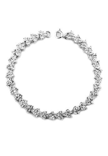 OUXI silver OUXI Cherry Blossoms Bracelet (Silver) OU821AC19TNOMY_1