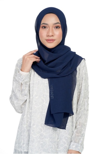 KASHKHA navy Chiffon diamante shawl-NAVBLUE A9FBBAA40B9F59GS_1