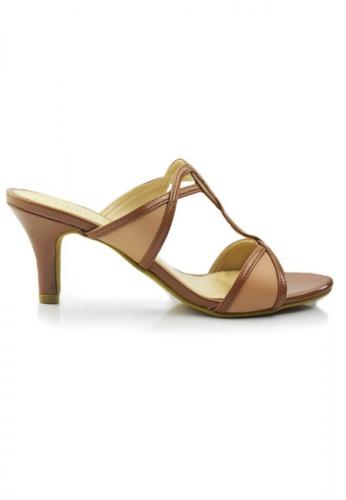 SHINE brown Slip On Strappy Sandals SH554SH09MOGSG_1