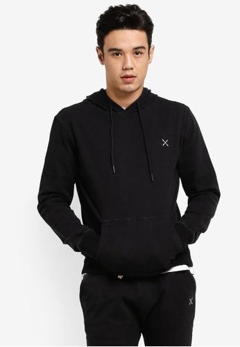 JAXON black Hooded Logo Pullover C945AAA7855F47GS_1
