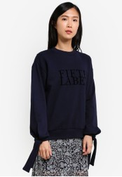 The Fifth Label navy Impressionist Jumper TH664AA0S3PNMY_1
