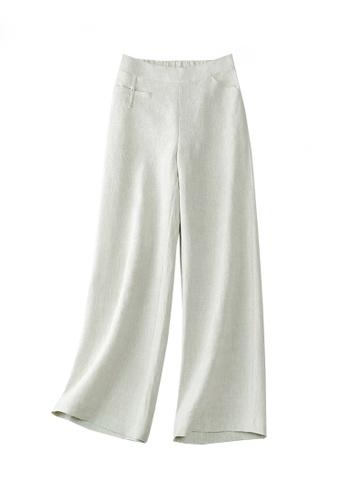 Twenty Eight Shoes grey VANSA Cotton And Linen Wide-legged Pants  VCW-P1217 52DA6AADCEB203GS_1