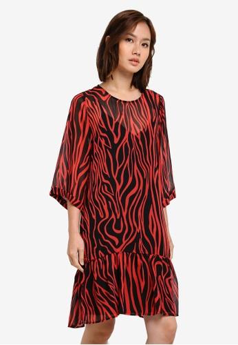 Selected Femme black Aggy 3/4 Sleeve Dress SE157AA0S40AMY_1