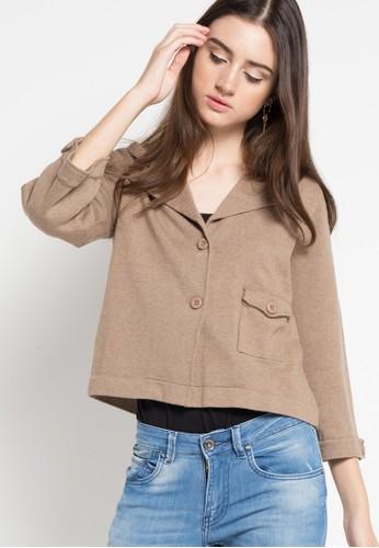 Noir Sur Blanc brown Ladies Cardigan Long Sleeve NO321AA86NFTID_1