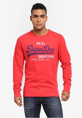 Superdry red Vintage Logo Duo Lite Weight Crew Sweatshirt B314AAAD6260BBGS_1