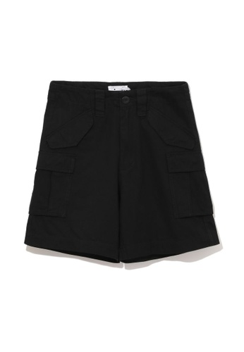 izzue black Army cargo shorts BC5BEAAD18B832GS_1