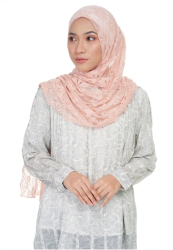 KASHKHA orange Jersey lace shawl-PEACH D1A6EAAAFE4971GS_1
