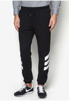 Diagonal Stripe Sweatpants