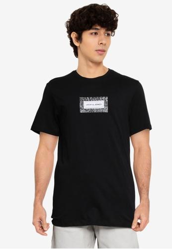 Jack & Jones 黑色 Leaf 短袖 圓領T恤 4EFEAAA2335BD9GS_1