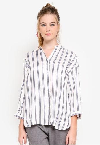 ESPRIT white Woven Long Sleeve Blouse E8971AA833BFDEGS_1